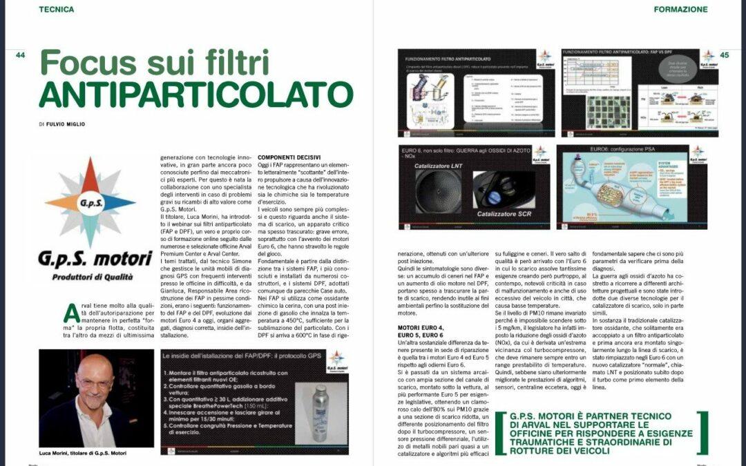 Articolo Rivista Parts in Officina